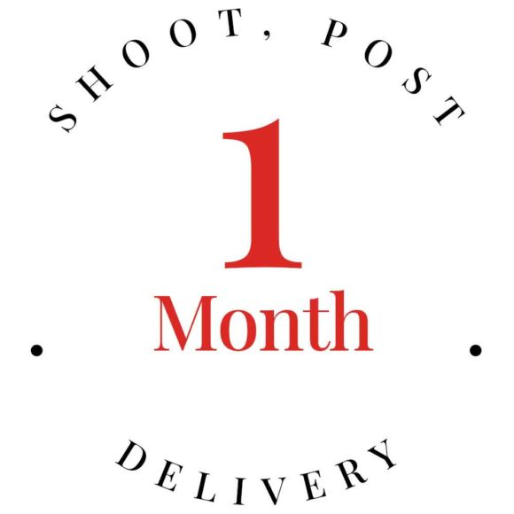 1 month for shoot, post and delivery